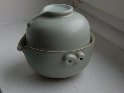 unusual Chinese ceramic pouring vessel and cup