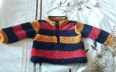 baby boy m and co fleece  jumper fluffy  3 -6 months