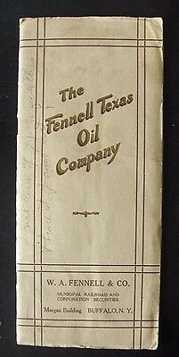 1920 The Fennell Texas Oil Company Pamphlet - Treasury Stock - Capital Invest