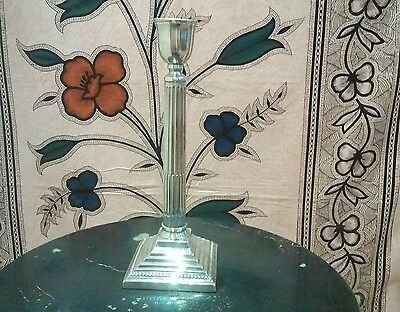 large silver Corinthian columned candlestick 14inch london marks for 1925