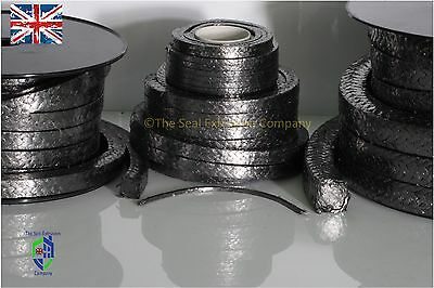 GLAND PACKING ROPE/SHAFT SEAL SOLD PER METRE - GRAPHITE (Various Sizes)