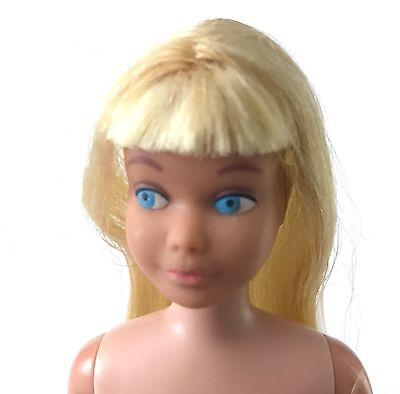 Vintage Skipper Doll Two Tone Platinum Blonde Hair w OSS Shoes & Stand RARE 1964