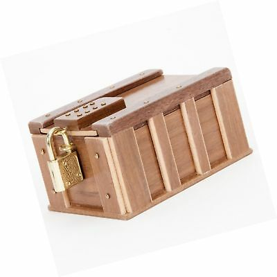 Bits and Pieces - One Panel Treasure Chest Gift Box - Wooden Money Brainteaser P