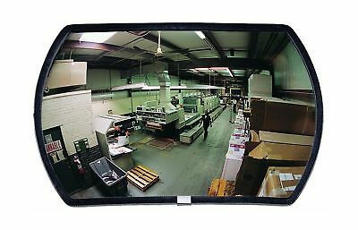 "See All RR1218 Round Rectangular Glass Indoor Convex Security Mirror, 18"" Length"