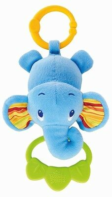 Bright Starts Tug Tunes Elephant attaches to carriers strollers more 0 months +