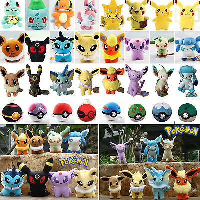 Pokemon Pikachu Eevee Squirtle Gengar Charmander Plush Stuffed Doll Toys Gift