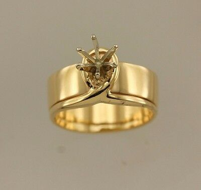 14k yellow gold 5.5mm .60ct round solitaire engagement ring setting 7mm sz 5