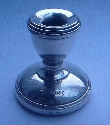 Vintage Small Solid Silver Candle Stick - Birmingham 1983