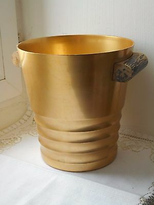 stunning vintage French gold coloured metal champagne ice bucket