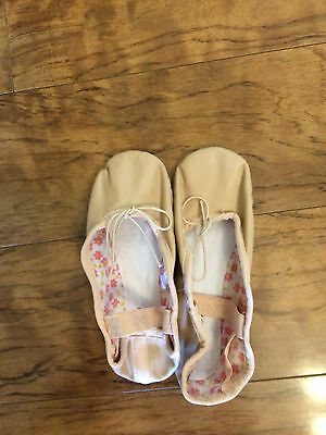 New Capezio Toddler Girls Ballet Shoes Daisy 205C 12 M Pink Leather