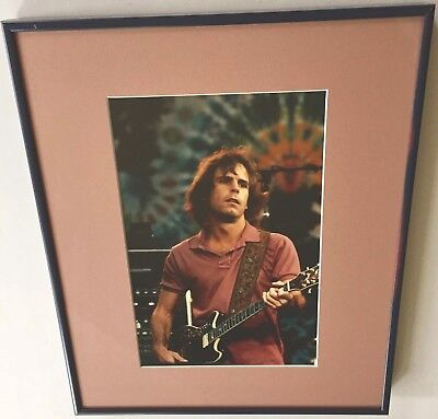 GRATEFUL DEAD PHOTO of Bob Weir Vintage Framed Color Picture Phychedelic Tie-dye