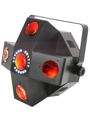 QTX COLLIDER - 5 Lens LED Moonflower and strobr 2 IN 1 Disco Lighting Effect DJ
