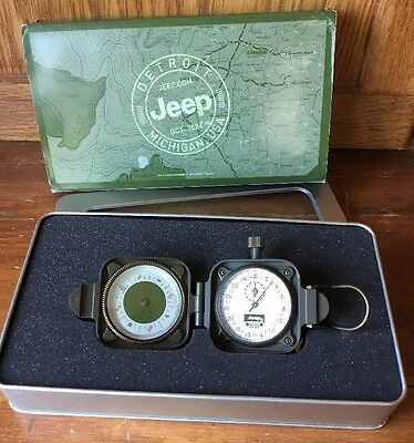 Jeep Rally Timing Stop Watch & Compass 2005 Grand Cherokee Promo Boxed Ad Set