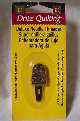 "Dritz Fancy "" Thimble "" Deluxe Needle Threader New in Package"