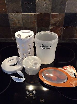 Tommee Tippee Travel Steriliser With Milk Storage And Baby Food Pouch Spoon