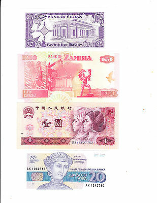 4 pre loved  Banknotes for sale (Lot 7)