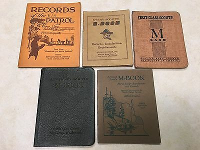 Lot of 5 1920's - 30's Scout M Book's from the Seattle Area Council