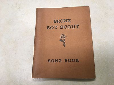 1937 Bronx Boy Scout Song Book