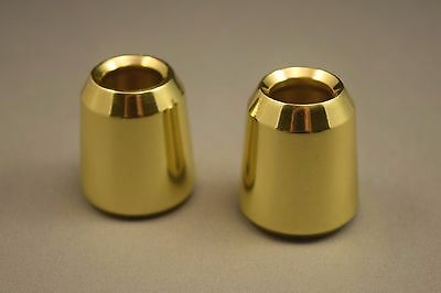 "Pair of Solid Brass Candle Followers 7/8"", Brand New Burners, Toppers (2 pieces)"