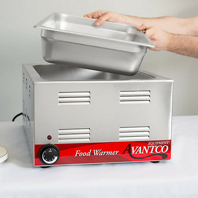 Avantco Commercial Electric Warmer Countertop Restaurant Cooking Food Truck Bar