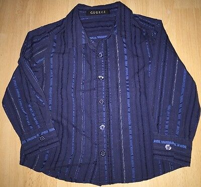 Boys blue shirt for 18-24 months from George - excellent condition