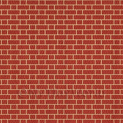 javis embossed Red Brick wall dolls house paper