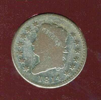 1814 CLASSIC HEAD COPPER LARGE CENT low mintage