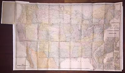 Large Railroad Map Of The United States, 1885, Color, With Senate Report