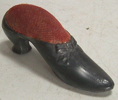 Vintage Metal Lace-up with Bow Shoe Pin Cushion Needle Holder