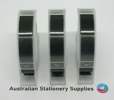 3 Dymo Xpress Embossing Tapes 9mm x 3M Black in stock
