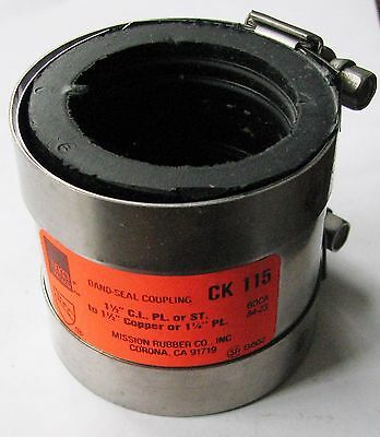 New Mission 1-1/2 Band Seal Coupling CI PL or ST to 1-1/2 Copper 1-1/4 PL CK-115
