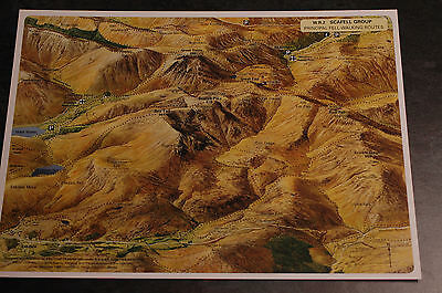 3D Aerial Panoramic A4 Fell Walking Map of Lake District No2 Unusual Gift Idea