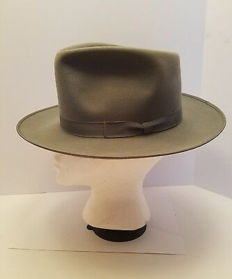 Vintage LEE Water Bloc Fifth Ave Trilby Fedora Hat 7