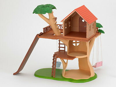 Sylvanian Families Tree House with a Slide, Tree Swing and Basket