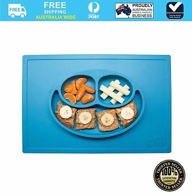 Ez-Pz Happy Baby Feeding Suction Mat Plate Package Blue