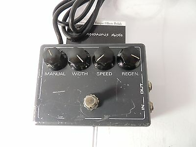 Vintage Mxr Flanger Effects Pedal Model 117 Original Issue Free Shipping!!