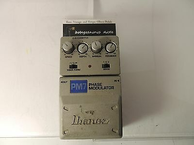 Ibanez Pm7 Phase Modulator Phaser Effects Pedal Phase Shifter Free Usa Shipping