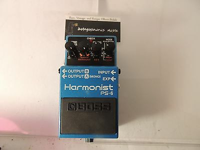 Boss Ps-6  Harmonist Effects Pedal  Harmonizer  Pitch Shifter Free Usa Shipping