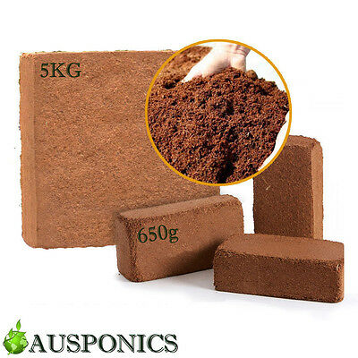 reusable Coir COCO Peat Hydroponics Growing Medium Soil 650g 5kg 100% natural