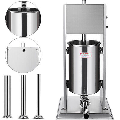 New Sausage Stuffer Vertical Stainless Steel 15L 33Lbs Pound Meat Filler Maker