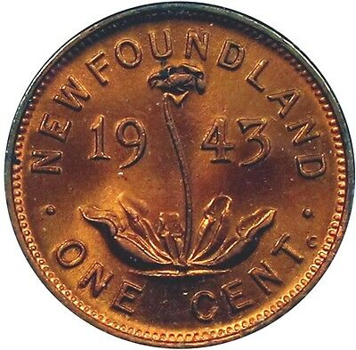 1943 Newfoundland Cent - Nice Red/Brown