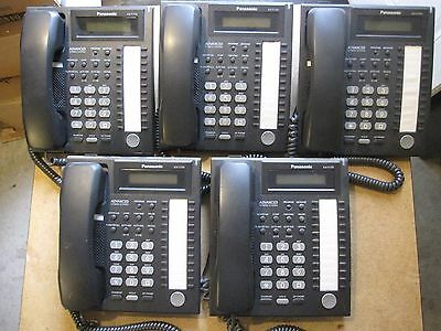 Clean Used Lot of 5 Panasonic KX-T7731B Telephones w/ new handset and line cords