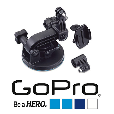 Genuine GoPro Suction Cup Mount Complete Kit for GoPro Hero 7/6/5/4/3/Session