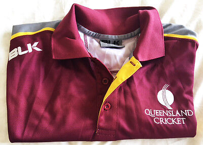 Genuine Qld Cricket Player Training Shirt Large