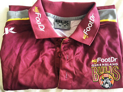 Genuine Qld Cricket Player Training Shirt Med
