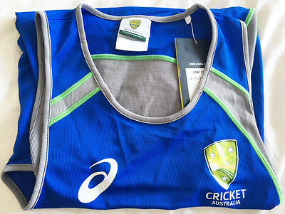 Genuine Cricket Australia Current Series Player Singlet Med W Tags