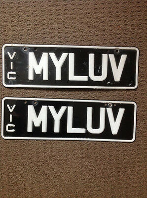 """Myluv ~ Number Plates (Victoria) ~ """"good Condition"""""""