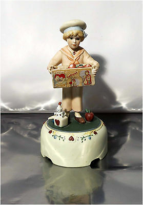 Vintage Jan Hagara Collectibles, Michael H3000 Music Box Figurine #8467