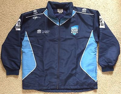 NSW Blues Cricket Training Warm Up Track Jacket Top Mens Size S VGC