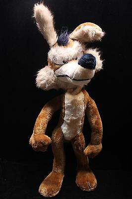 """Vintage Wile E Coyote HUGE 32"""" Poseable Plush Warner Bros. Mighty Star 1971"""